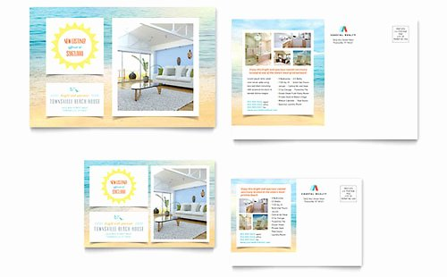 Real Estate Postcards Templates Best Of Coastal Real Estate Postcard Templates Word & Publisher