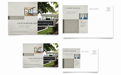 Real Estate Postcards Templates Elegant Real Estate Postcard Templates Word & Publisher