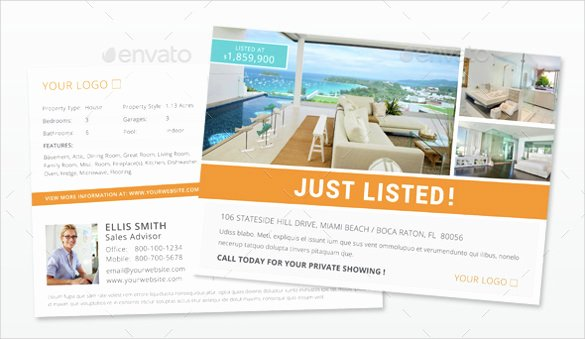 Real Estate Postcards Templates Free Beautiful Realtor Postcard Template – 18 Free Psd Vector Eps Ai