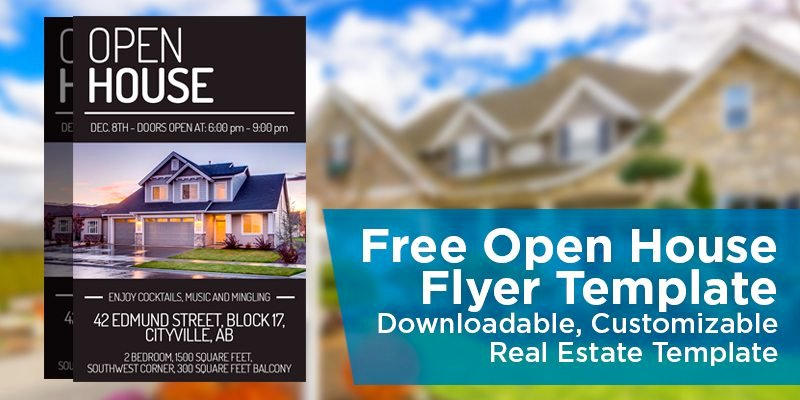 Real Estate Postcards Templates Free Best Of Free Open House Flyer Template – Downloadable