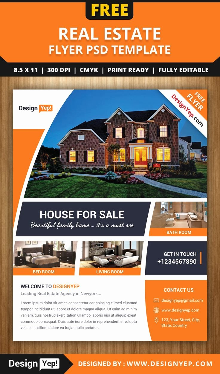 Real Estate Postcards Templates Free Fresh Free Real Estate Flyer Psd Template 7861 Designyep