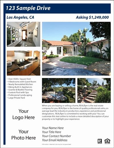 Real Estate Postcards Templates Free Inspirational for Sale by Owner Flyer House Exterior