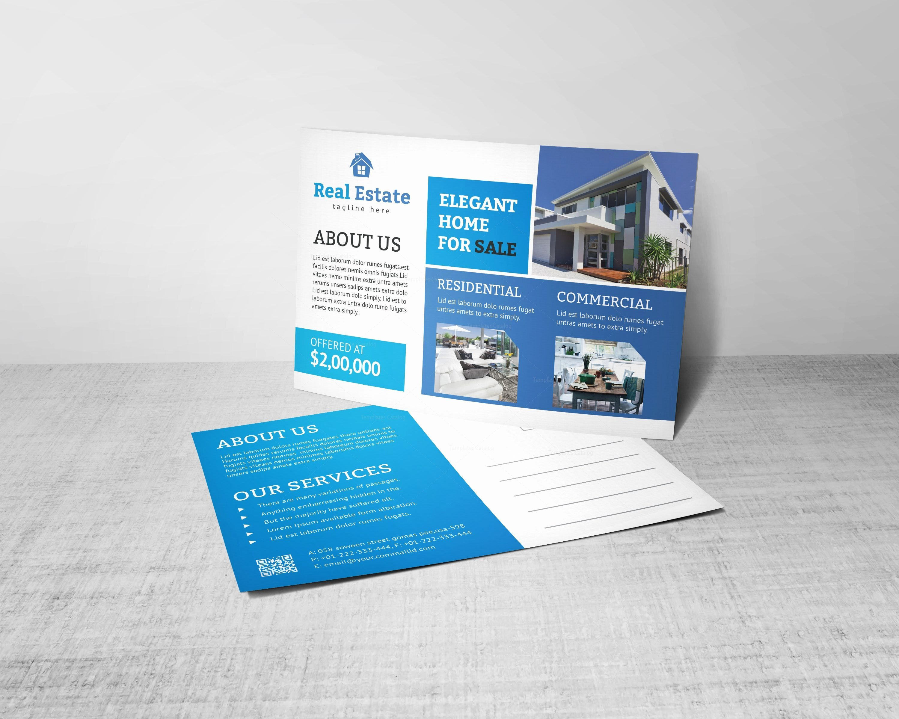 Real Estate Postcards Templates Free New Creative Real Estate Postcard Design Template