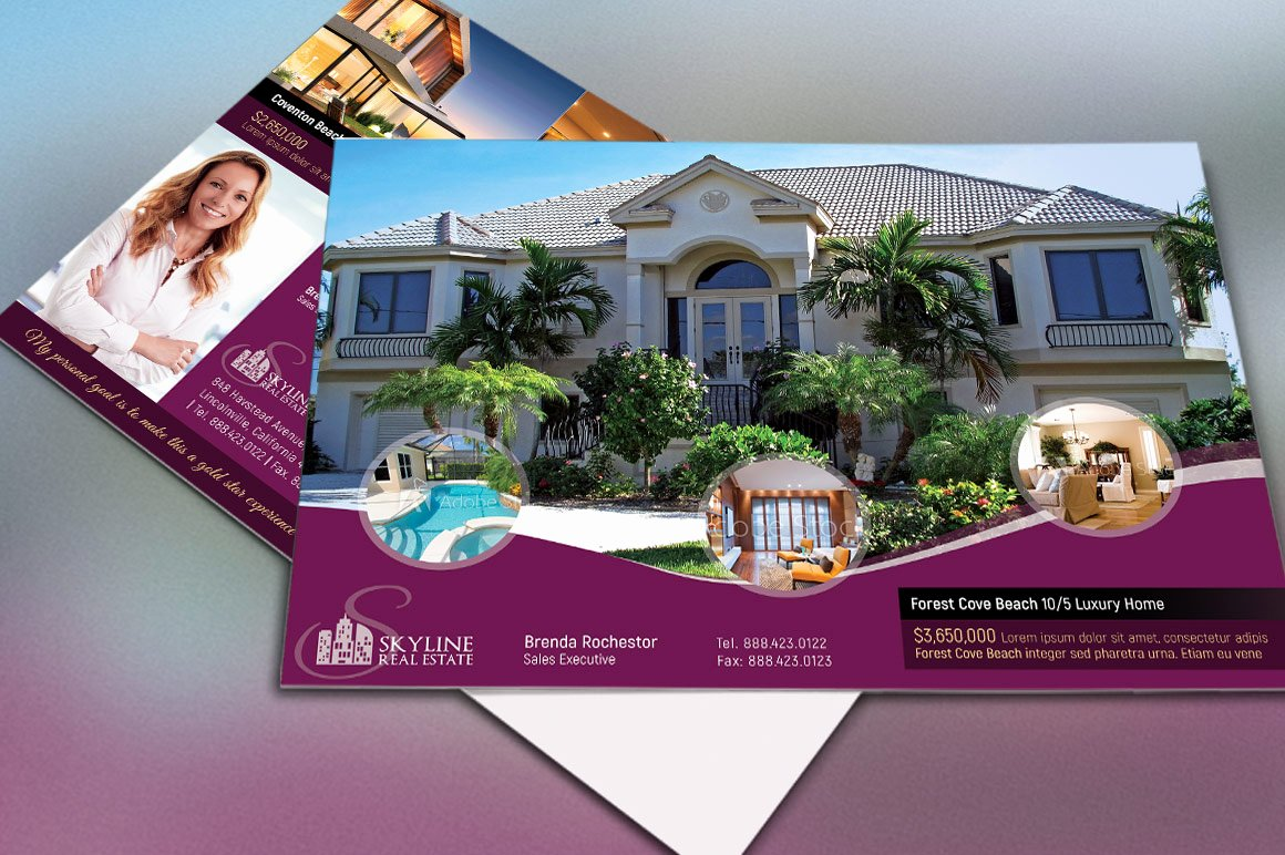 Real Estate Postcards Templates Free New Real Estate Eddm Postcard Template by G