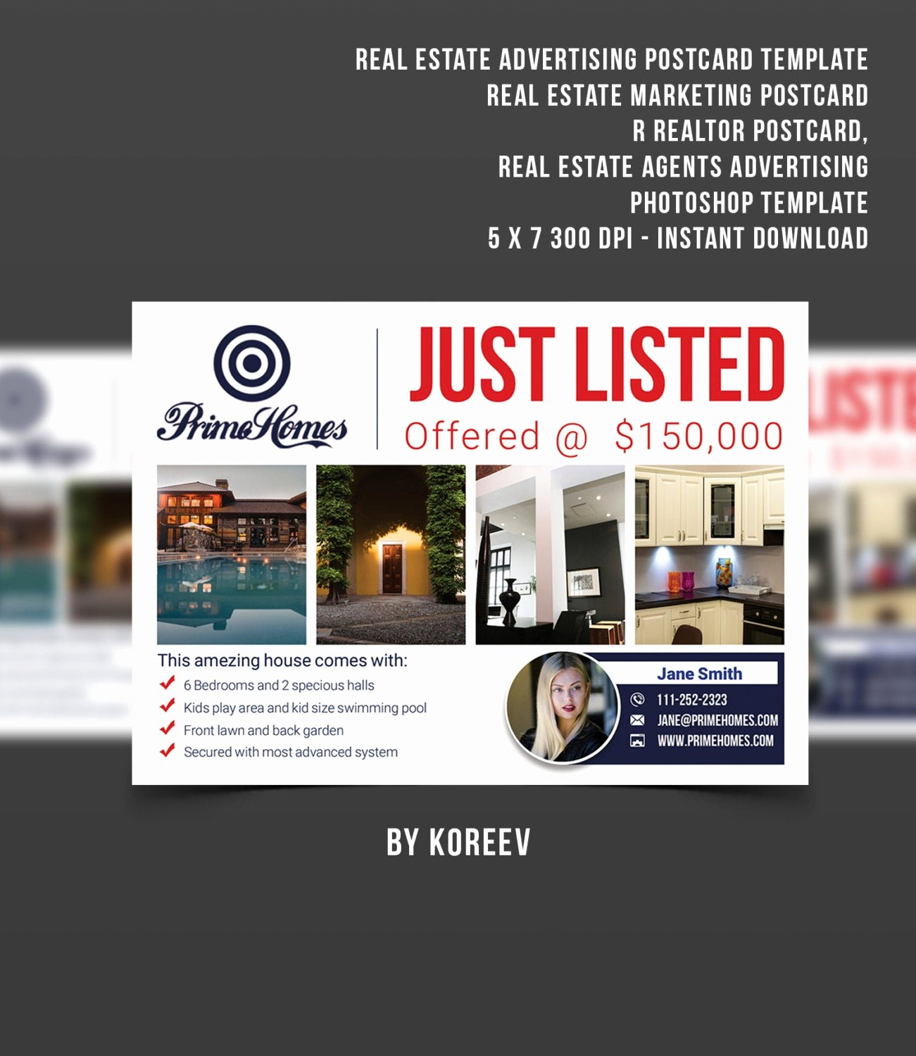 Real Estate Postcards Templates Free Unique Real Estate Advertising Postcard Template Real Estate