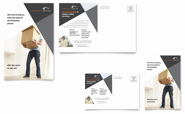Real Estate Postcards Templates Inspirational Contemporary & Modern Real Estate Postcard Template Word