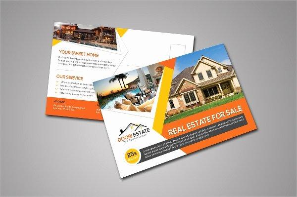 Real Estate Postcards Templates New 19 Postcard Templates Free Psd Eps Ai format Download