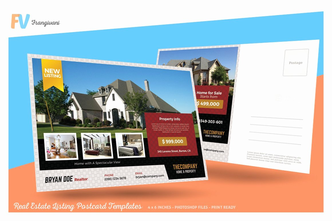 Real Estate Postcards Templates Unique Real Estate Listing Postcard Postcard Templates