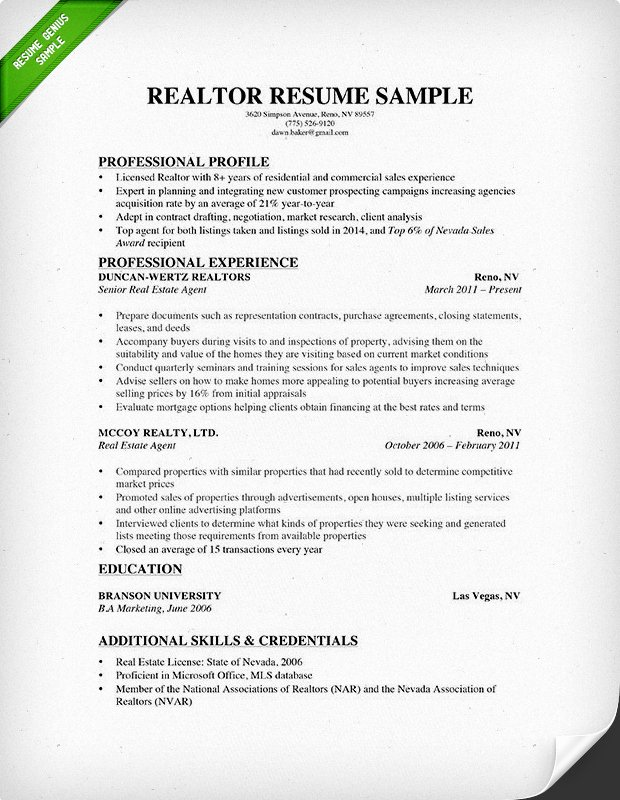 Real Estate Resume Templates Beautiful Real Estate Resume & Writing Guide