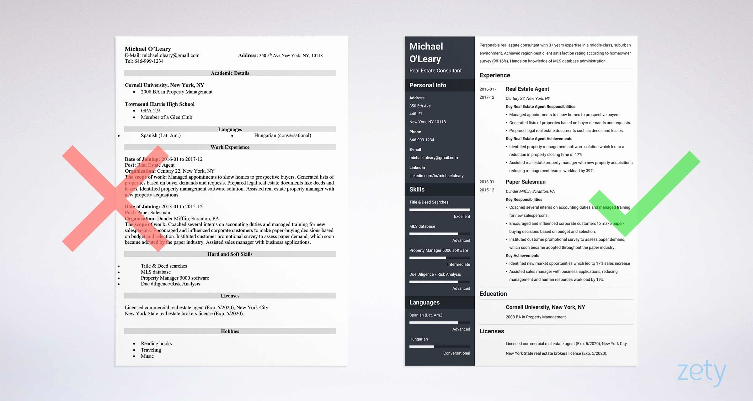 Real Estate Resume Templates Best Of Real Estate Resume Sample & Plete Guide [20 Examples]