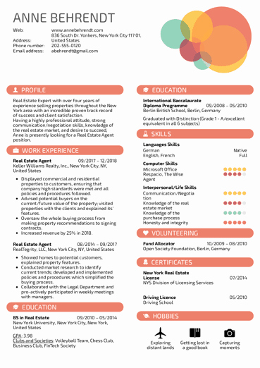 Real Estate Resume Templates Best Of Real Estate Resume Samples From Real Professionals who Got