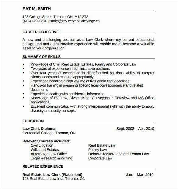 Real Estate Resume Templates Fresh Sample Real Estate Resume 14 Download Free Documents