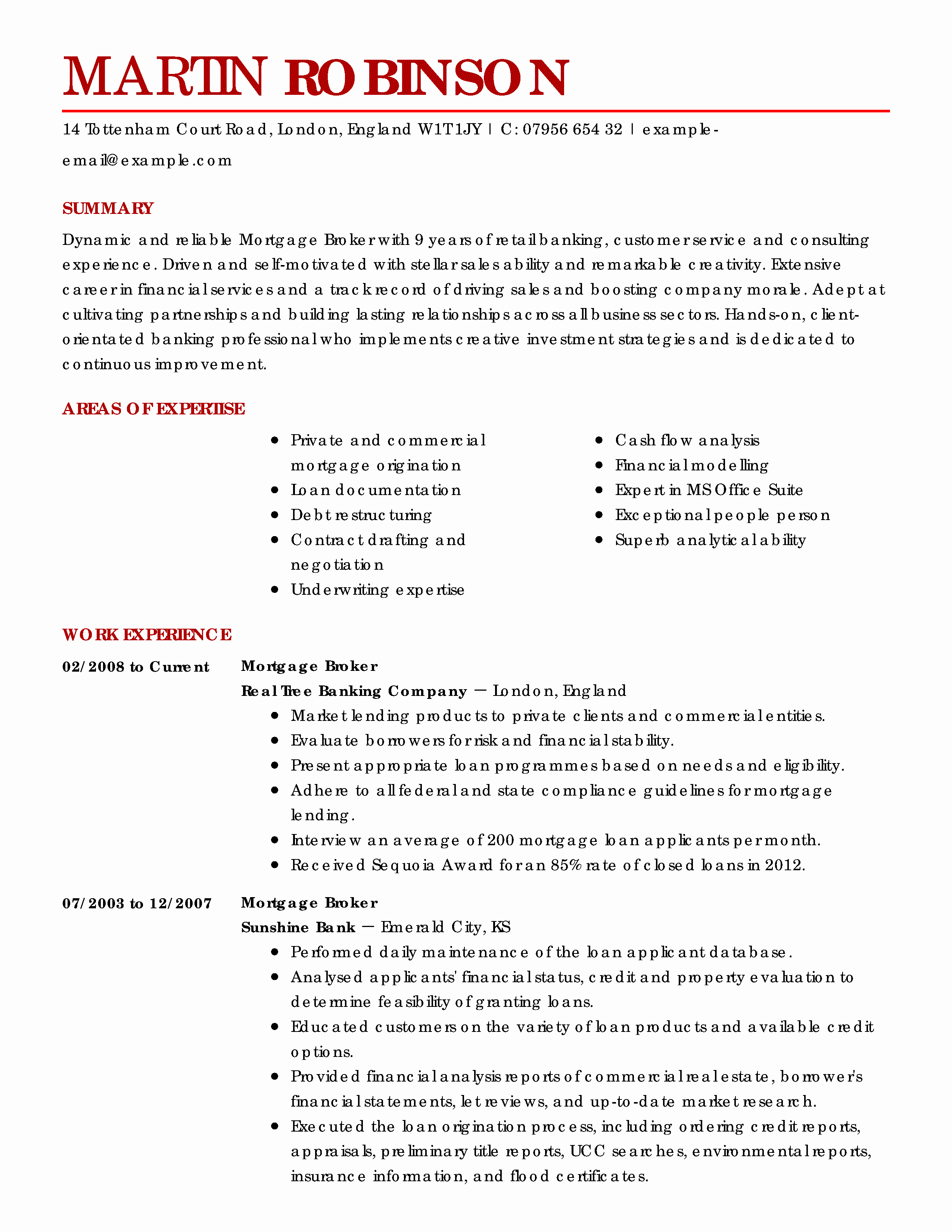 Real Estate Resume Templates Inspirational Amazing Real Estate Resume Examples to Get You Hired