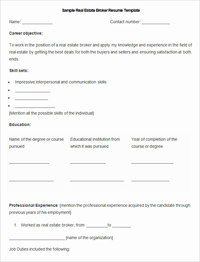 Real Estate Resume Templates Unique Sales Resume Template – 41 Free Samples Examples format