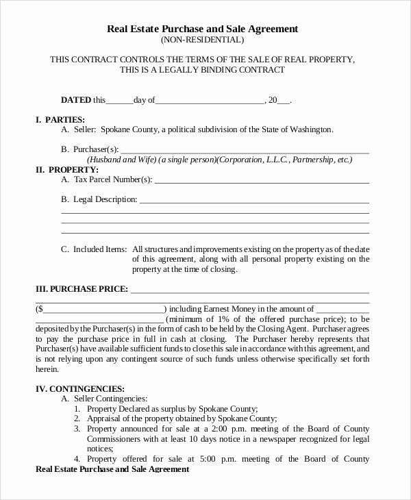Real Estate Sale Contract Template Fresh 13 Sample Purchase and Sale Agreements Word Pdf
