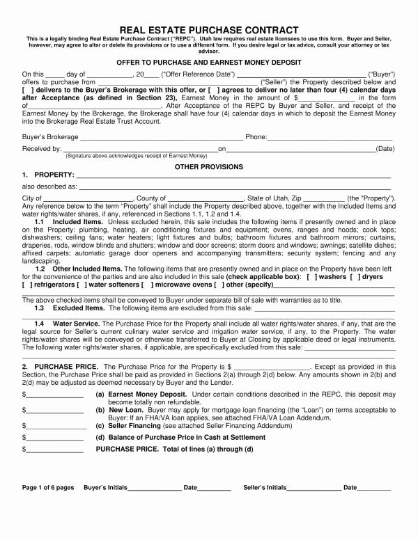 Real Estate Sale Contract Template New Free 11 Real Estate for Sale by Owner Contract Template