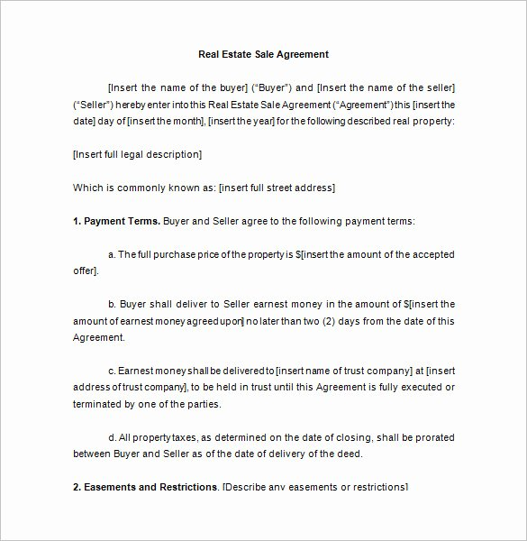 Real Estate Sale Contract Template Unique 23 Sales Contract Templates Word Pdf Google Docs