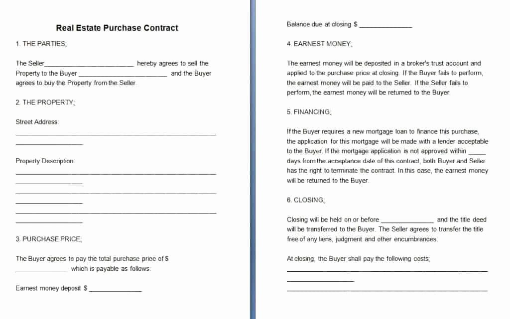 Real Estate Sales Contract Template Beautiful Free Contract Templates Word Pdf Agreements Part 6
