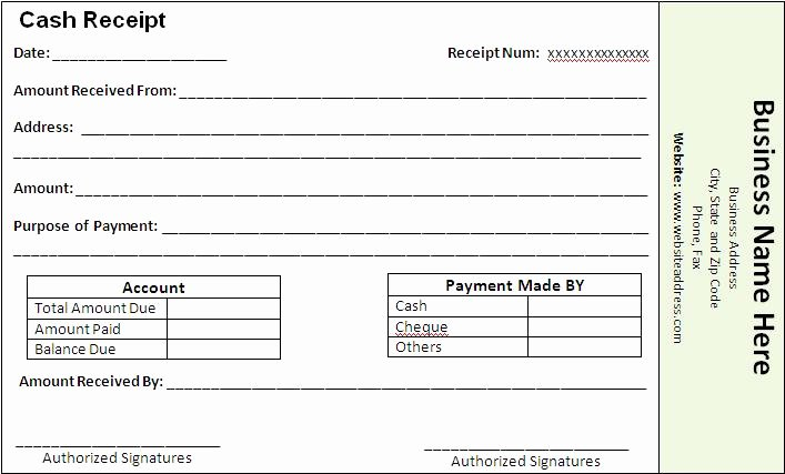 Receipt for Services Template Luxury Payment Receipt Template