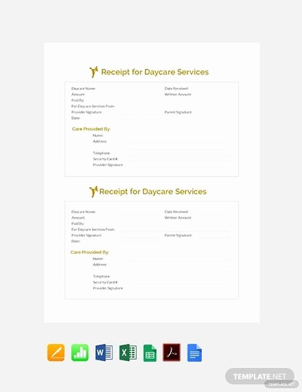 Receipt for Services Template New 113 Free Receipt Templates
