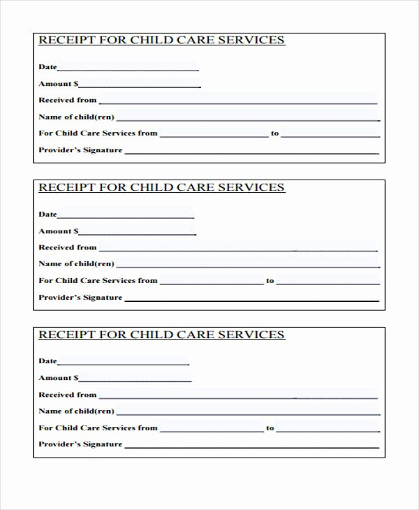 Receipt for Services Template Unique Printable Receipt forms 41 Free Documents In Word Pdf