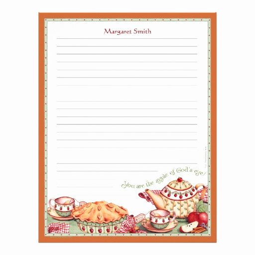 Recipe Template for Mac Beautiful Apple Of God S Eye Customizable Recipe Stationery