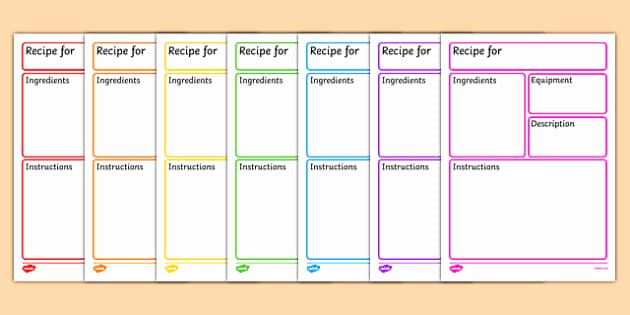 Recipe Template for Mac Inspirational Editable Recipe Template Recipe Cooking Baking Recipe