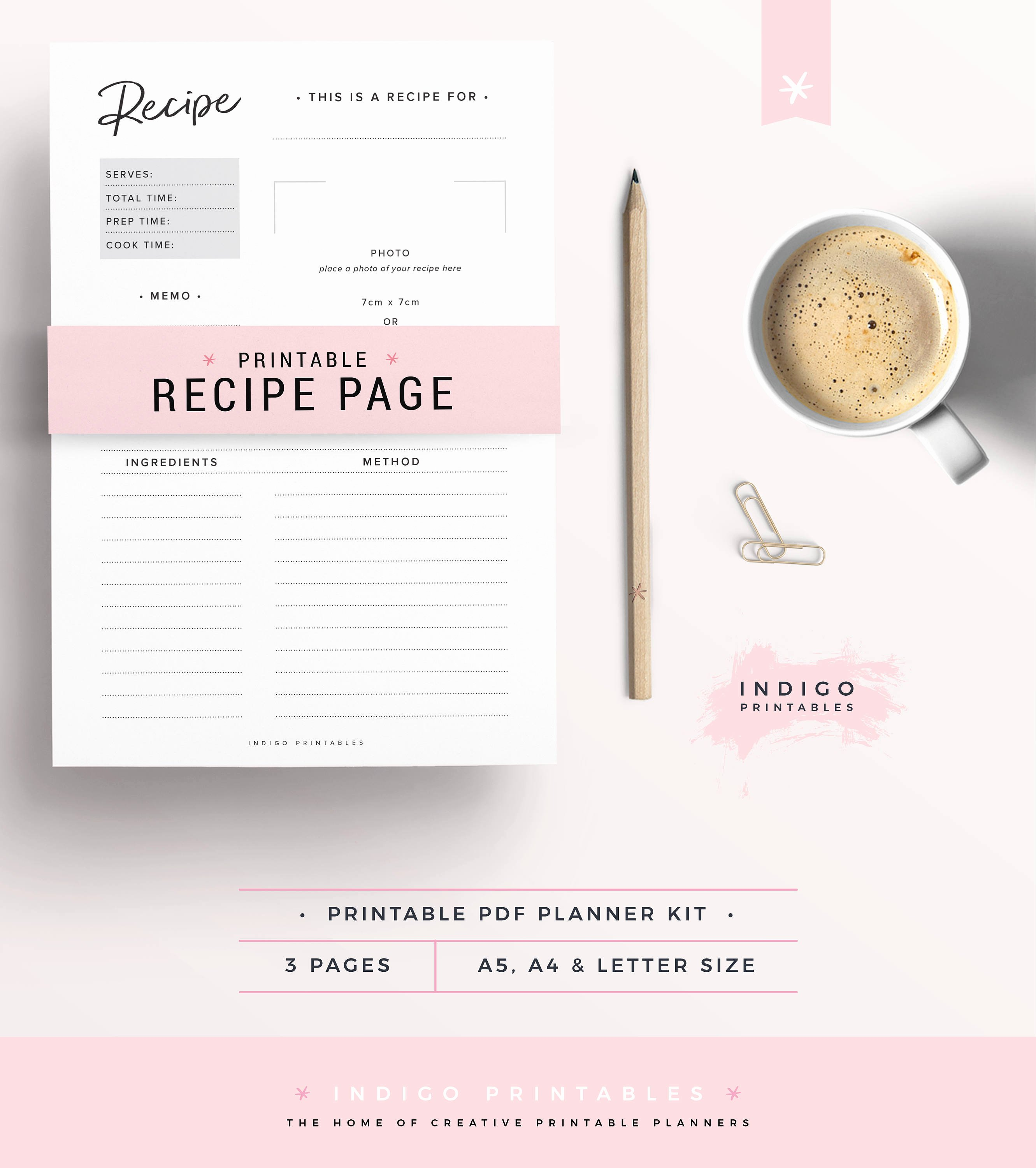 Recipe Template for Mac Inspirational Printable Recipe Card Printable Recipes Recipe Binder