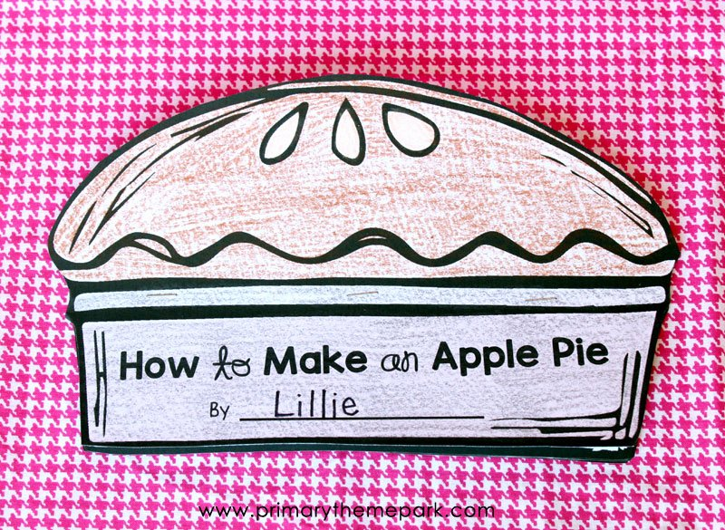 Recipe Template for Mac Lovely Apple Writing Activities Primary theme Park