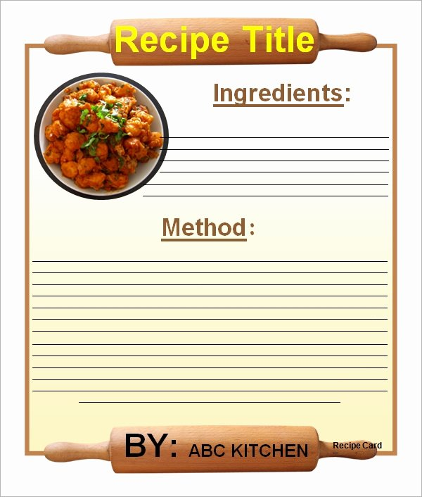 Recipe Template for Mac Lovely Sample Recipe Card Template 6 Free Documents Download