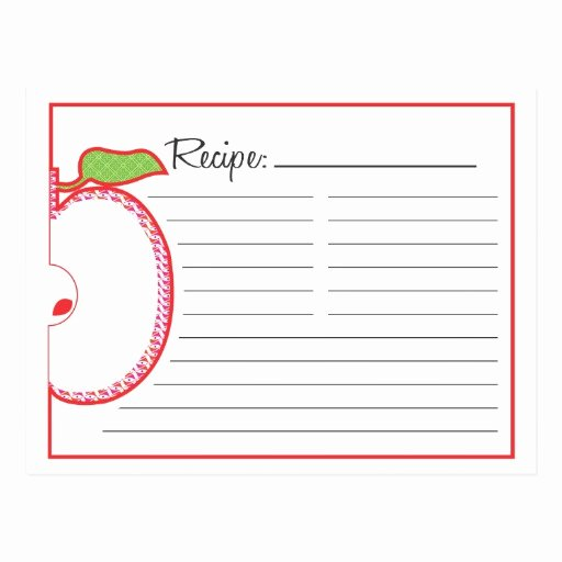 Recipe Template for Mac New Apple Recipe Card