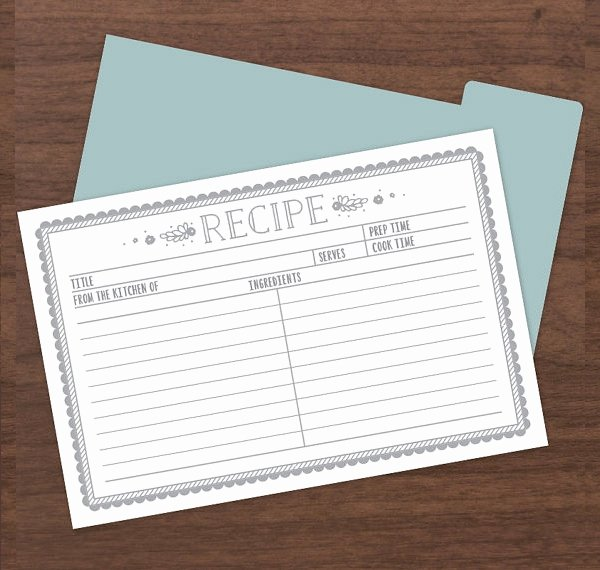 Recipe Template for Mac Unique 9 Sample Recipe Card Templates