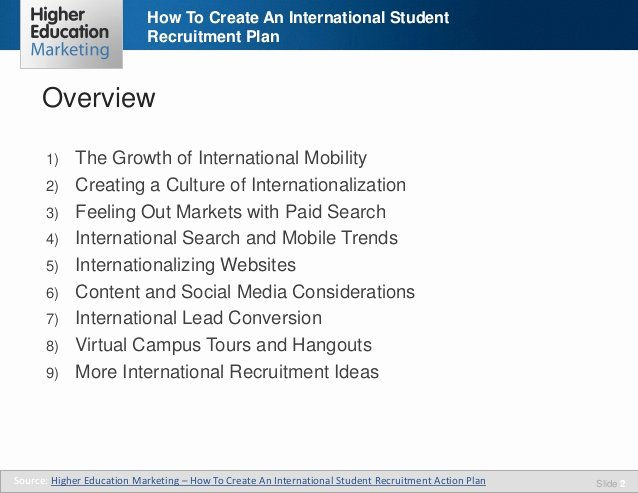Recruitment Strategic Plan Template Awesome How to Create An International Student Recruitment Plan
