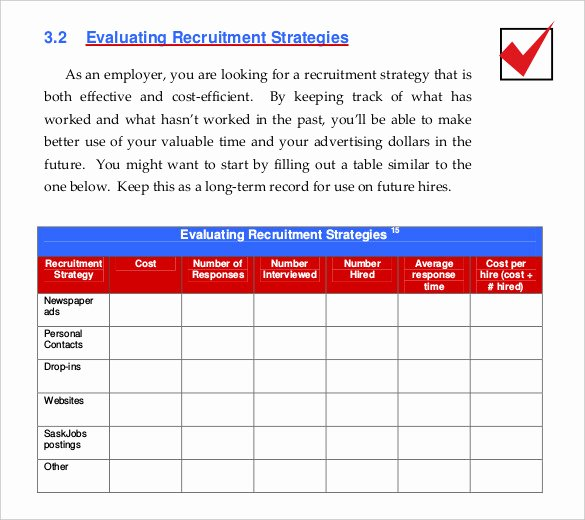 Recruitment Strategic Plan Template Best Of 15 Recruitment Strategy Templates Docs Pdf Word