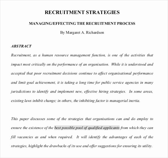 Recruitment Strategic Plan Template Lovely 15 Recruitment Strategy Templates Docs Pdf Word