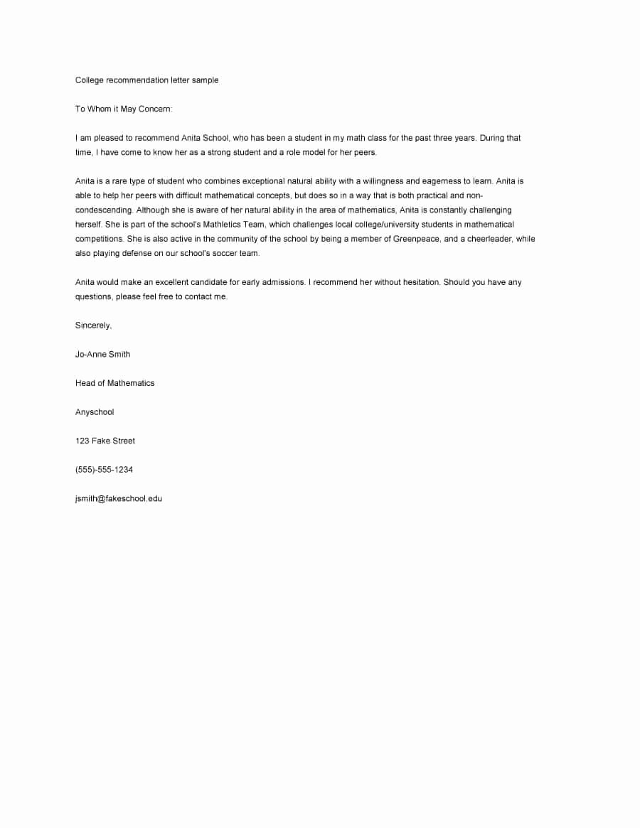 Reference Letter Templates Free Awesome 43 Free Letter Of Re Mendation Templates & Samples