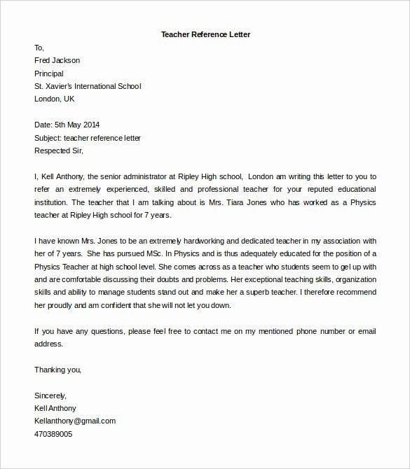 Reference Letter Templates Free Awesome Free Reference Letter Templates 24 Free Word Pdf