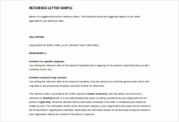 Reference Letter Templates Free Fresh 42 Reference Letter Templates Pdf Doc