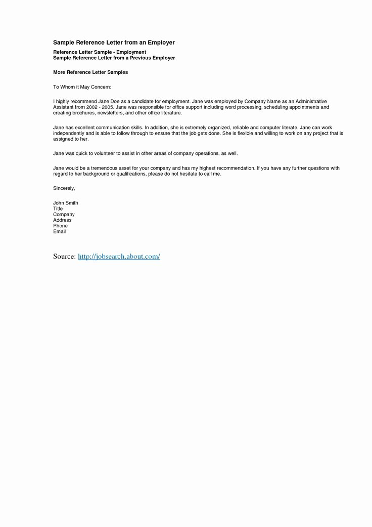 Reference Letter Templates Free Fresh Reference Letter Template Best Templatepersonal