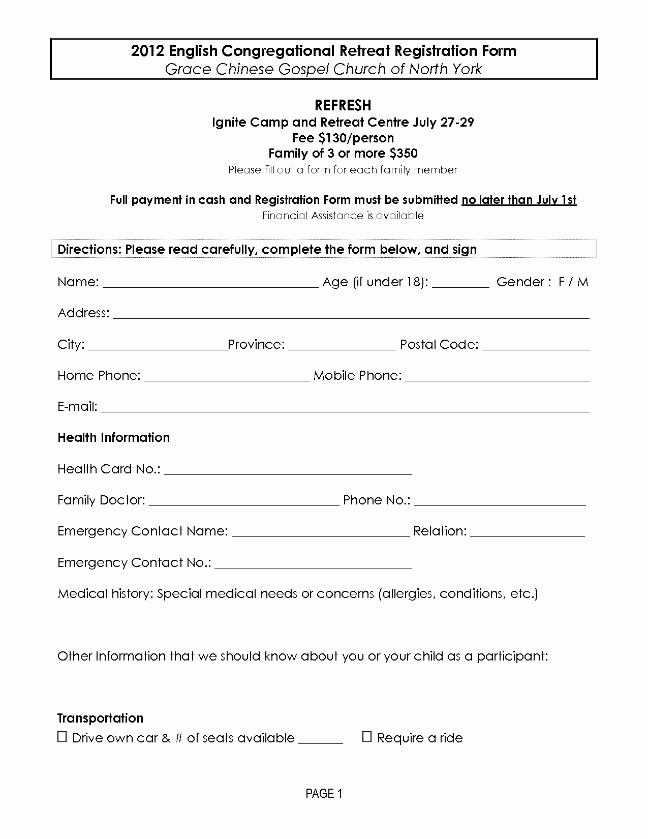Registration form Template Word Awesome Retreat Registration forms
