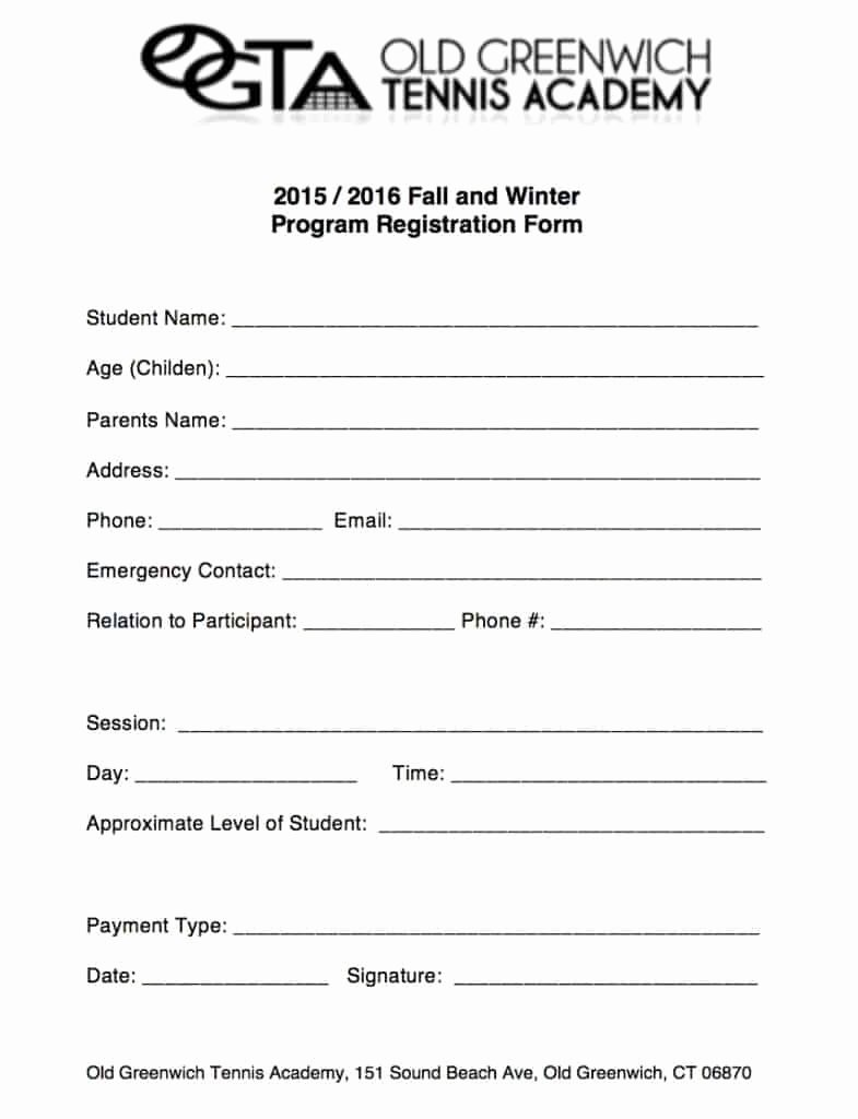 Registration form Template Word Best Of Academy Registration form Templates