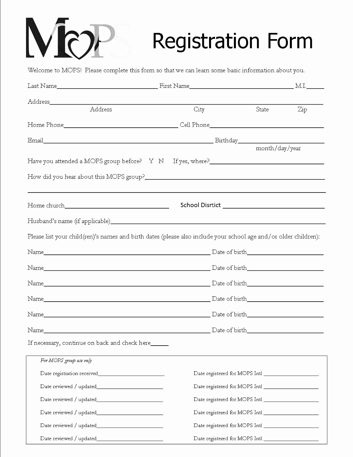 Registration form Template Word Elegant Registration forms Template Free