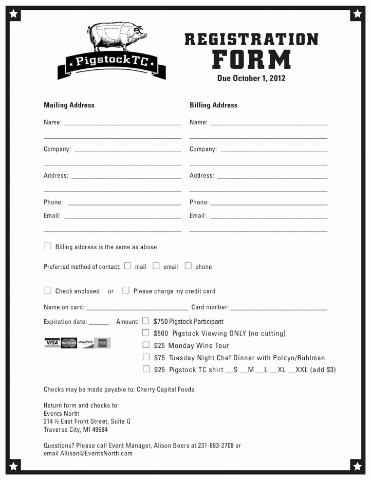 Registration form Template Word Inspirational Registration form Template