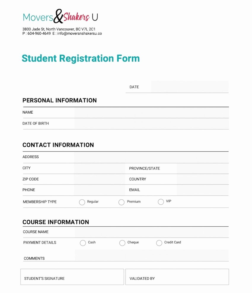 Registration form Template Word Lovely How to Customize A Registration form Template Using