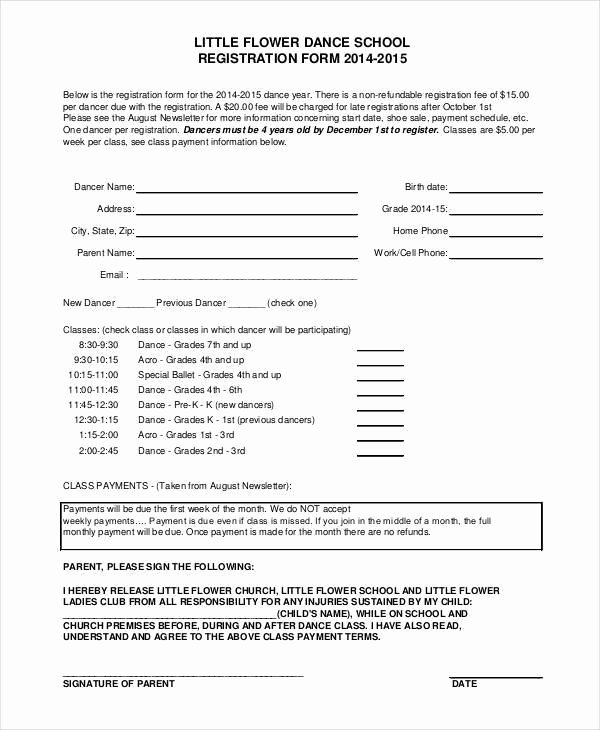 Registration form Template Word Luxury Baseball Registration form Template Word Templates