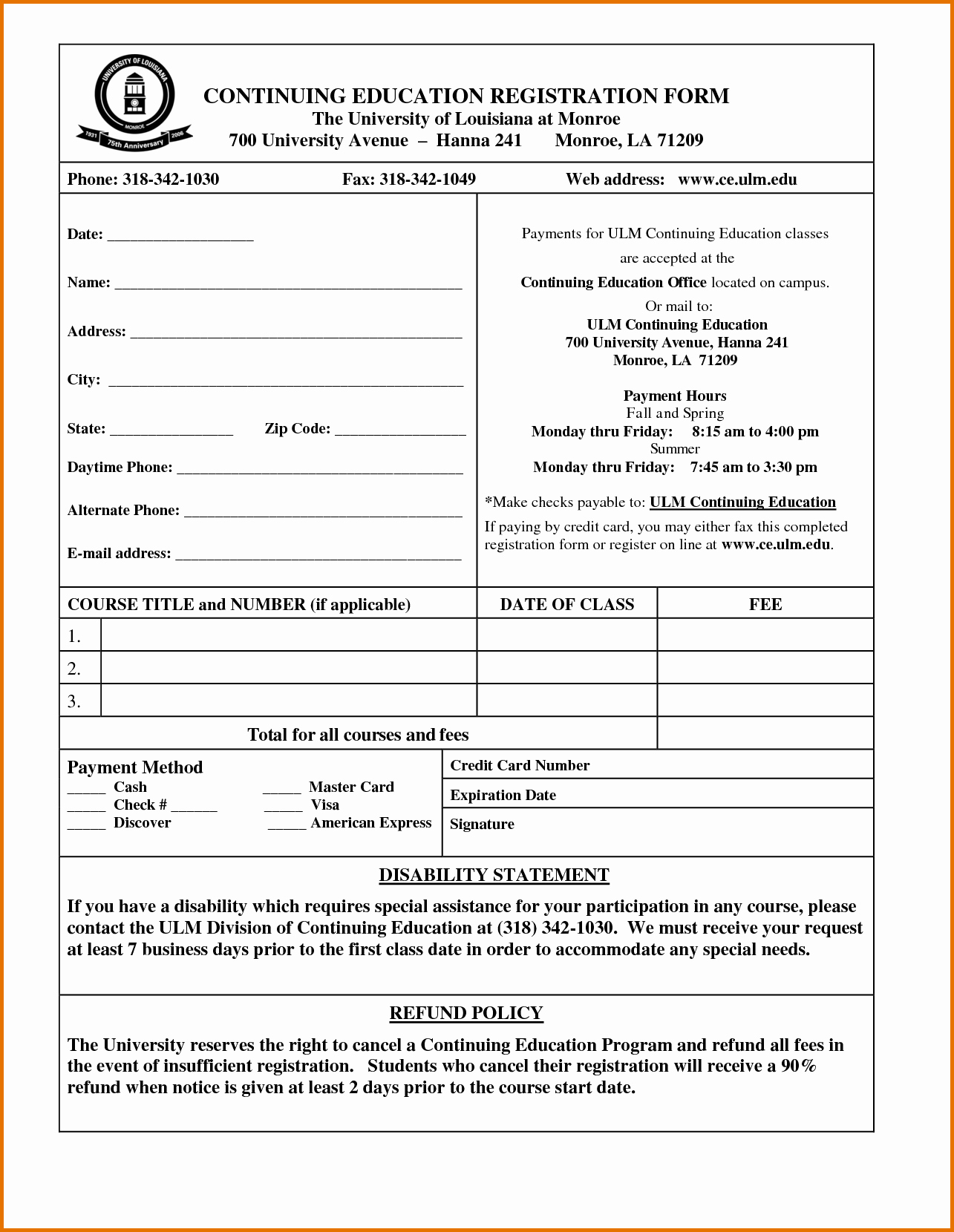 Registration form Template Word Luxury Registration form Template Word