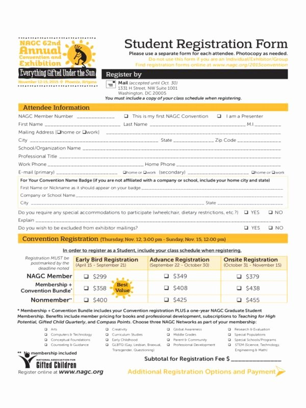 Registration form Template Word Unique Registration form Template Word