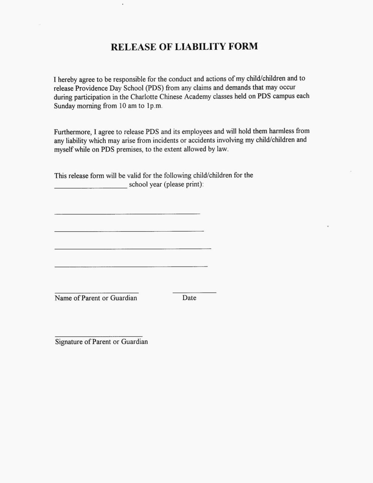 Release Of Liability form Template Elegant the Truth About Release