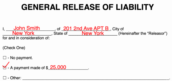 Release Of Liability form Template New Free Release Of Liability Hold Harmless Agreement