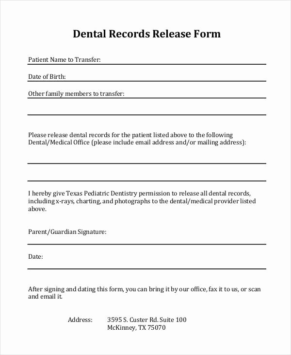Release Of Medical Records Template Awesome Free 31 Medical Release forms